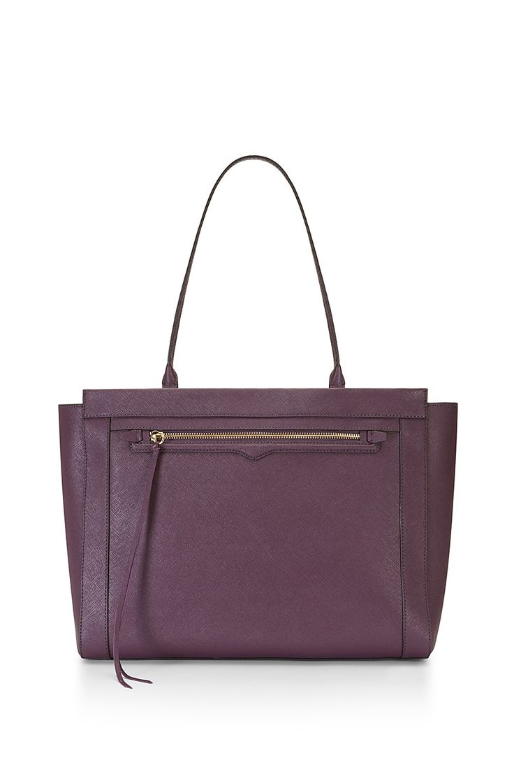 Monroe Tote - A trapeze take on our classic M.A.B. Tote, this carryall is polished and refined. Featuring a slim shoulder strap and functional zipper detail, this spacious and sturdy tote is finished with our signature hardware for a sleek, seasonal refresh.