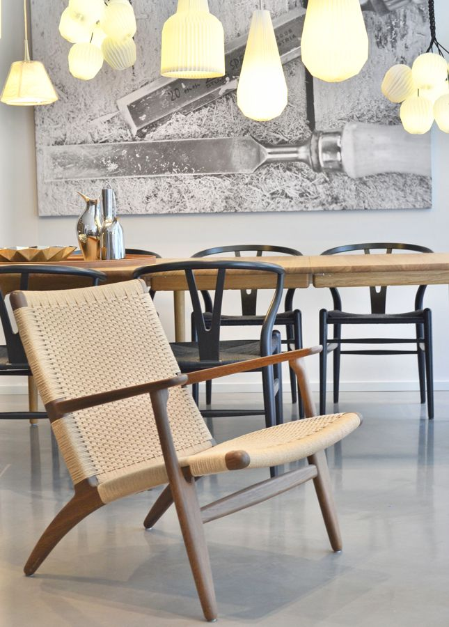 love the cluster of pendant lights and the modern iconic chairs in  foreground and back are terrific. 24 best Danish Modern Design images on Pinterest   Danish modern