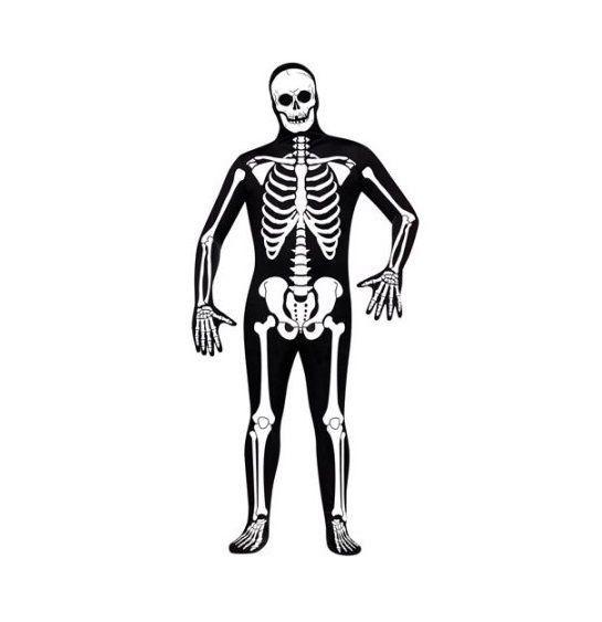 Fun World Skeleton Adult Halloween Bodysuit Costume - One Size