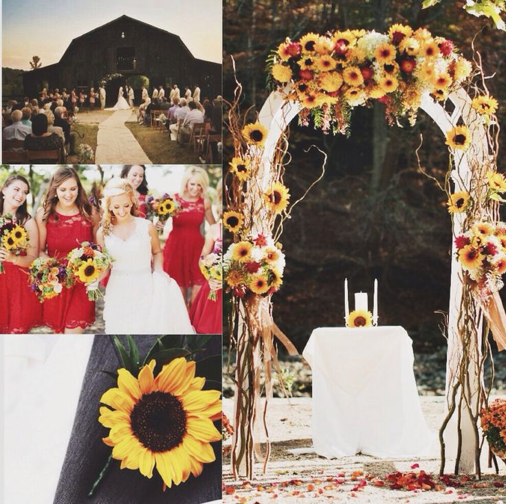 I've started making collages for my friends. They all have such unique & fun tastes. This one is a red & sunflower wedding with a western and country twist. Inspired by my best friend Makayla. :)