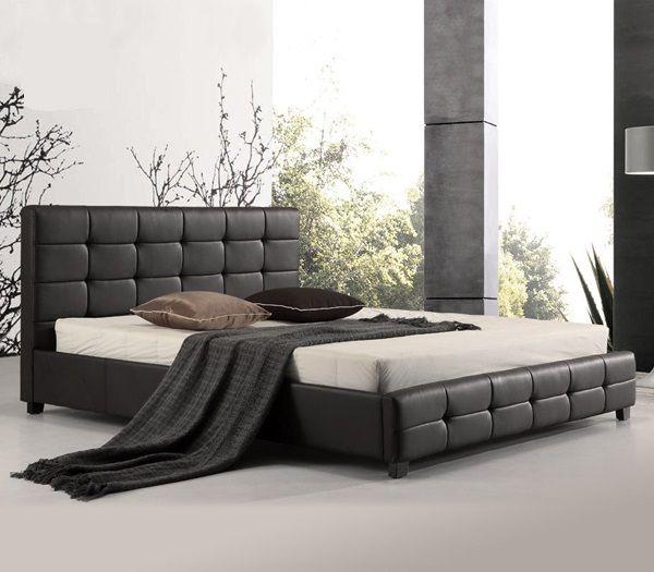 Κρεβάτια : FIDEL Κρεβάτι ΔΙΠΛΟ 160x200cm PU Μαύρο