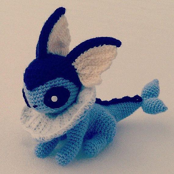 Vaporeon Pokemon Crochet Amigurumi by SirPurlGrey on Etsy, $40.00