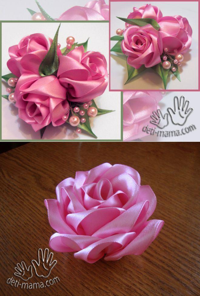 Нежнее нежного: розы из лент для украшений и букетов (мастер-класс) - Рукоделие