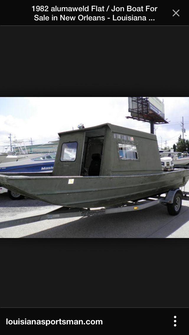 Jon Boat With A Cabin Boats Pinterest Boating Boat