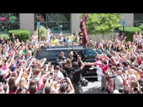 X Factor USA Judges Arrive at Dunkin' Donuts Center Providence