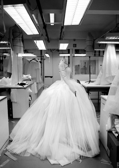 Inside the atelier for Christian Dior haute couture s/s 2012, photographed by Gerard Uferas (via Haute Kills)