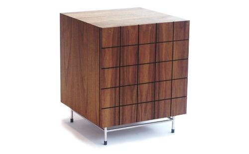 Barcelona bedside cabinet - walnut
