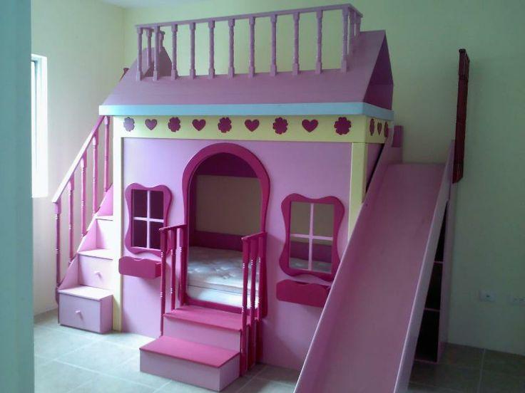 Casita con cama para ni a cuchetas pinterest camas - Cama casita infantil ...