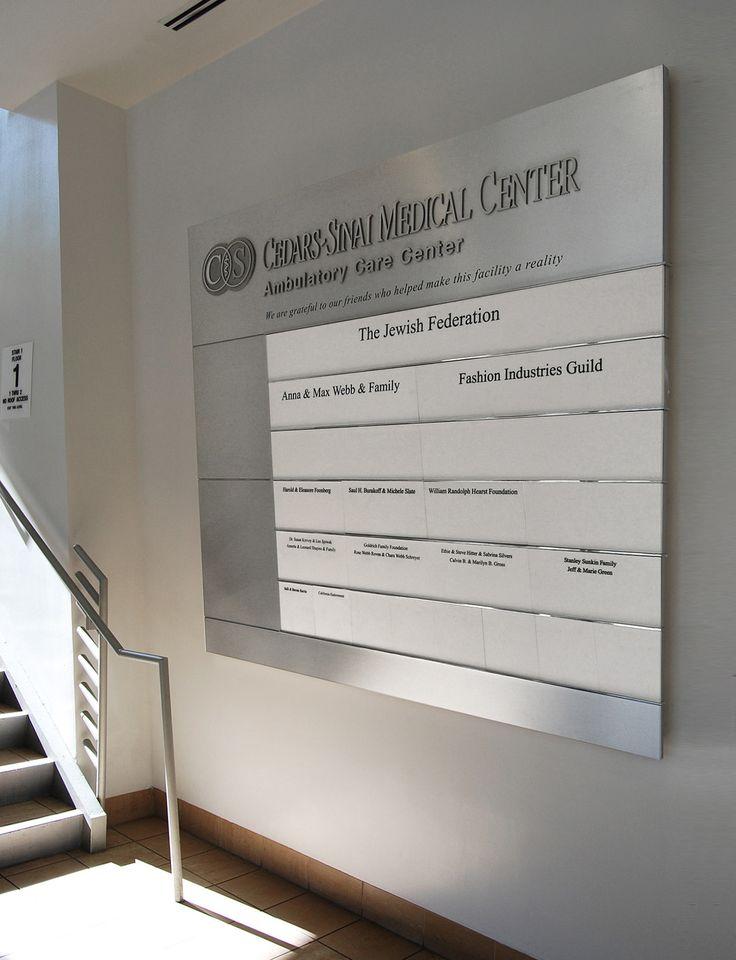 Donor wall. Cedars-Sinai Medical Center.