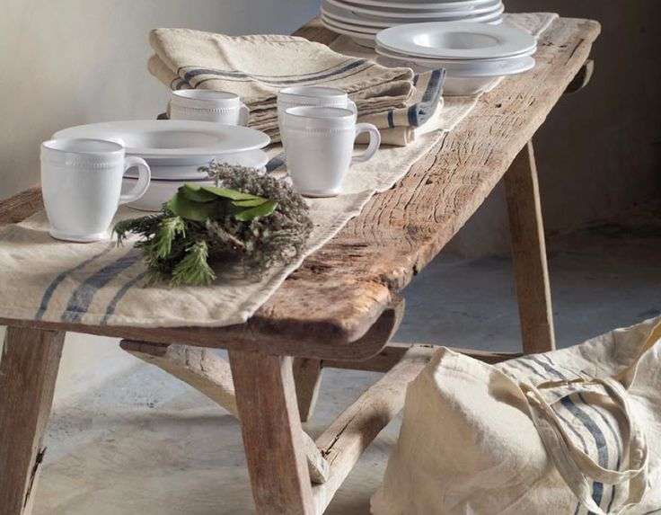 Natural Fabric, Natural Wood. from Cote Bastide. shown at  The Paper Mulberry: August 2011