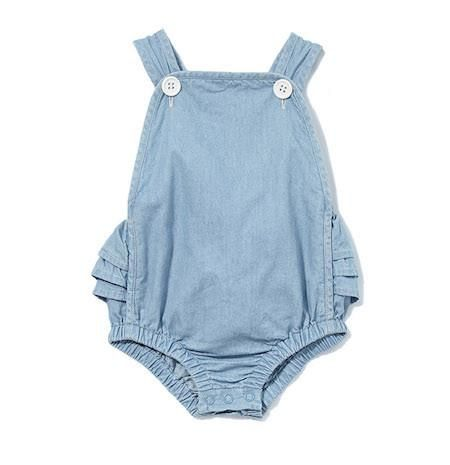 Chambray Playsuit by Milky Sizes 000-2
