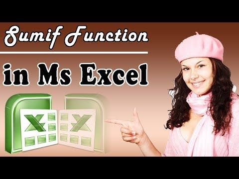 SUMIF Function in Ms Excel Tutorial in Urdu Hindi Part 14 Ms Excel