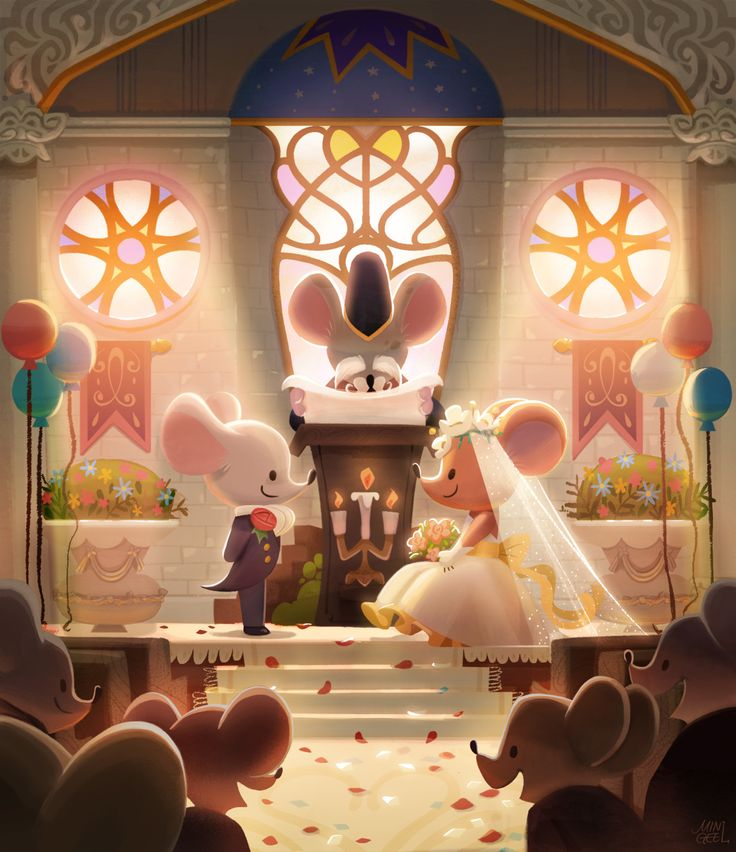 [Title : mice wedding _ 생쥐 결혼식] 일러페어 2016년. 첫 공개된 생쥐커플 둘의 결혼식! 행복한 순간을 담다.