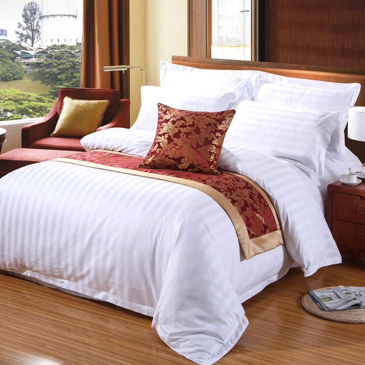 Cheap duvet cover set king, Buy Quality hotel duvet directly from China cotton bedding set Suppliers: Custom Pure Cotton  Bedding Set Satin Hotel Duvet Cover Set King,Luxury White Gray Solid bedclothes,quilt cover pillowcase