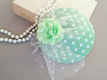 fascinator fresh green & dots