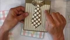 Easy Shirt with Tie card - YouTube