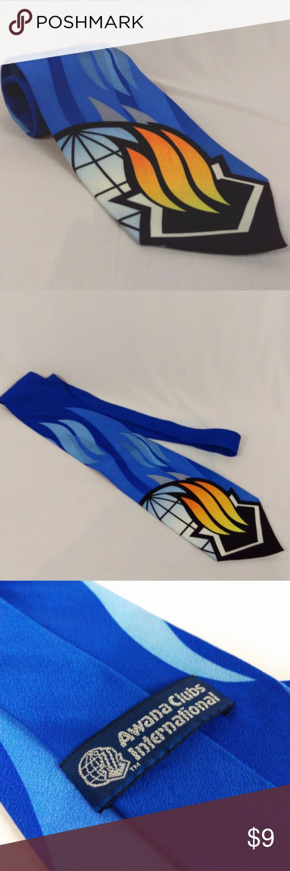 "Awana Club Tie Awana International 100% Silk Awana Club International Dress Tie  100% Silk  Excellent condition. Smoke free. Classic length at 57"" 4"" Width   CT5 Awana Accessories Ties"