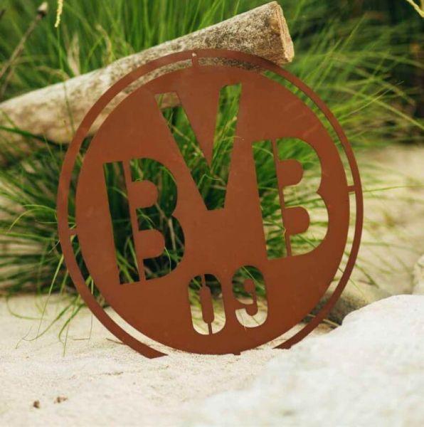Edelrost Windlicht BVB Borussia Dortmund Dekoration Garten Terrasse Geschenk