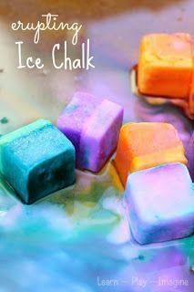 Erupción pintura tiza hielo - la receta verano más fresco para el juego