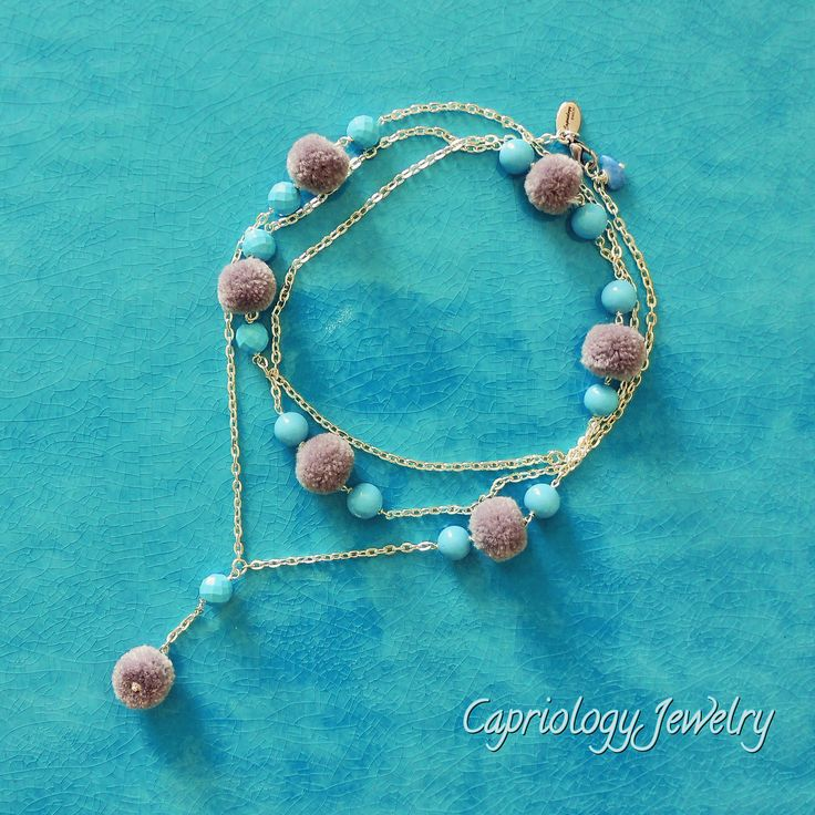 Pom poms are ruling the world... Handmade by Capriology Jewelry on the beautiful island of Capri.