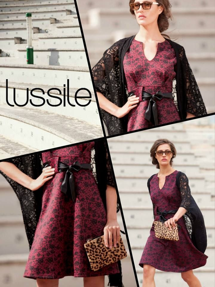 Lussile Floral Burgundy Dress A/W 14