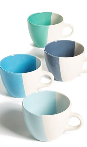 cute half dipped mugs http://rstyle.me/n/iyqxdr9te  so cool I want them all