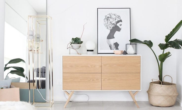 A beautiful buffet can really set the mood for a dining or living area, this one from Life Interiors is perfect along side the forest green floor length mirror, finished with a few indoor plants and you have a gorgeous   niche in your home to display beautiful homewares. Need help creating your own niche? Follow below link for more info www.rawluxeinteriors.com.au