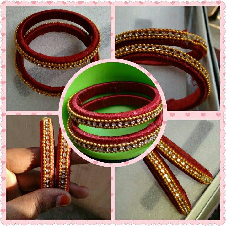 Maroon- Silk thread bangle