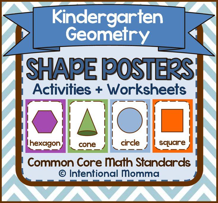Kindergarten Geometry Shape Activities, Worksheets, and