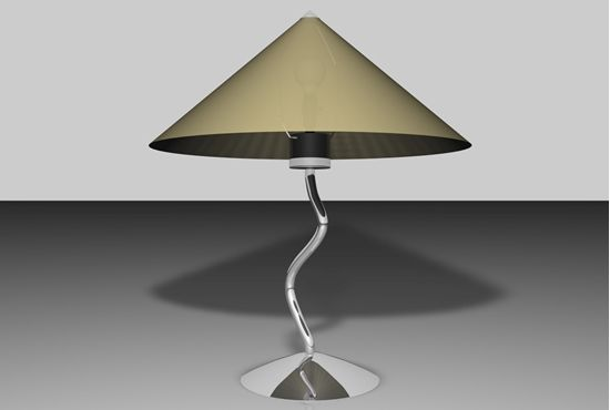 Buy a modern art lamp model in FBX 3D format that works with most 3D modeling software.