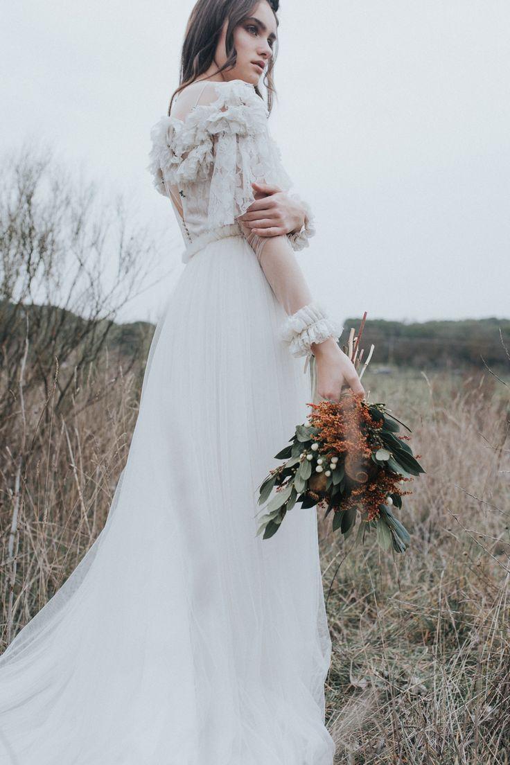 vestido de Castellar Granados muah Oui Novias ramo Adhoctienda