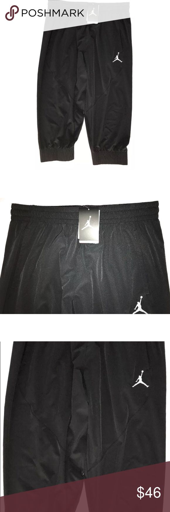 Nike Jordan Ultimate Flight CAPRI Basketball Pants Nike Jordan Men's CAPRI LENGTH Basketball Pants Size XL New  Short capri length Stretch waistband, inner drawstring Side front pockets Stretch leg opening Size XL 87% Recycled Polyester, 13% Spandex MSRP on tag is $90  Thank you so much! Nike Jordan Pants