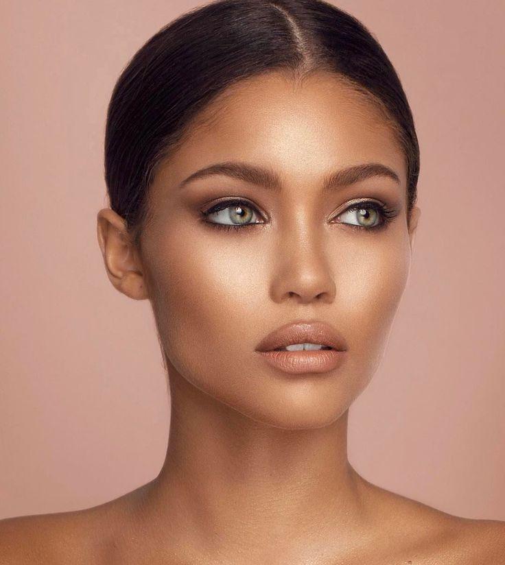 макияж для смуглой кожи фото масло добавляем конце