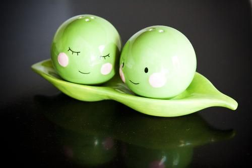 8 best images about kitchen stuff on pinterest freeze tea sets and ice cream maker - Two peas in a pod salt and pepper shakers ...