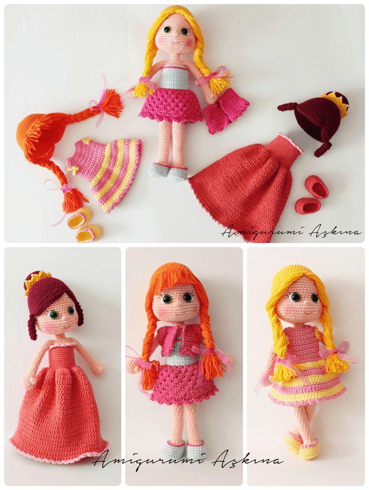 Crochet Amigurumi Doll Clothes : Amigurumi Askina: Kizima ordugum Kucuk Amigurumi Bebek ...