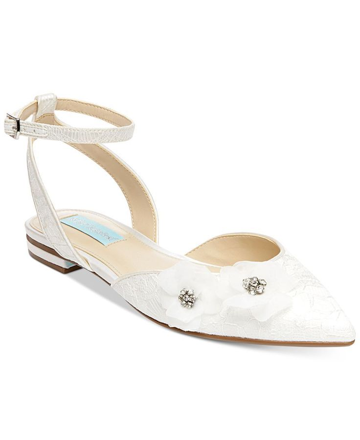 Blue by Betsey Johnson Willa Ankle-Strap Evening Flats