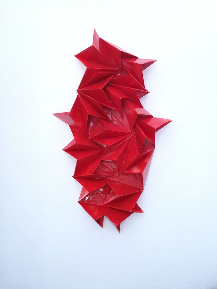 """""""κ"""" collection κόκκινο Paperart,acrylic colour 2017"""