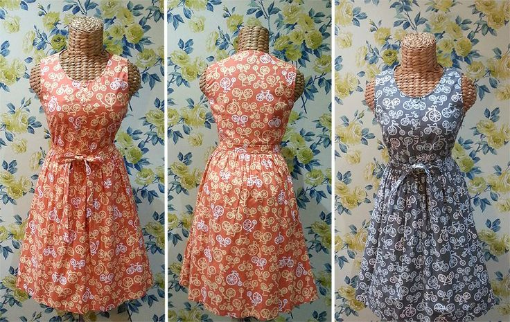 The Corner-shop dress, bike prints.