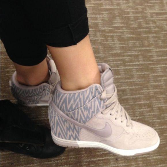 Nike Wedge Sneakers Never worn! Size 7. Beautiful, casual chic sneakers. Nike Shoes Sneakers