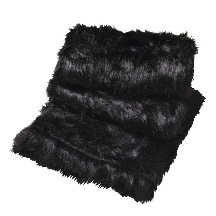 LOGAN & MASON ACCESSORIES - Barkley Black Throw #black #accessories #faux #fur #cushion #home #décor #style #fashion #loganandmason