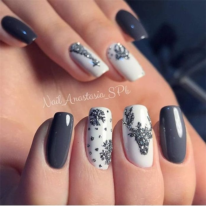 100 Pretty Winter Nail Design Ideas 2019 With Images Xmas