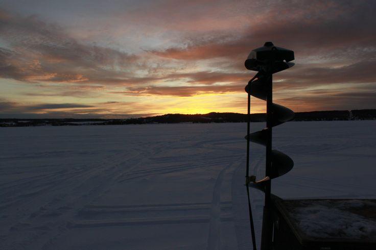 As the sun sets on Lake Temiskaming