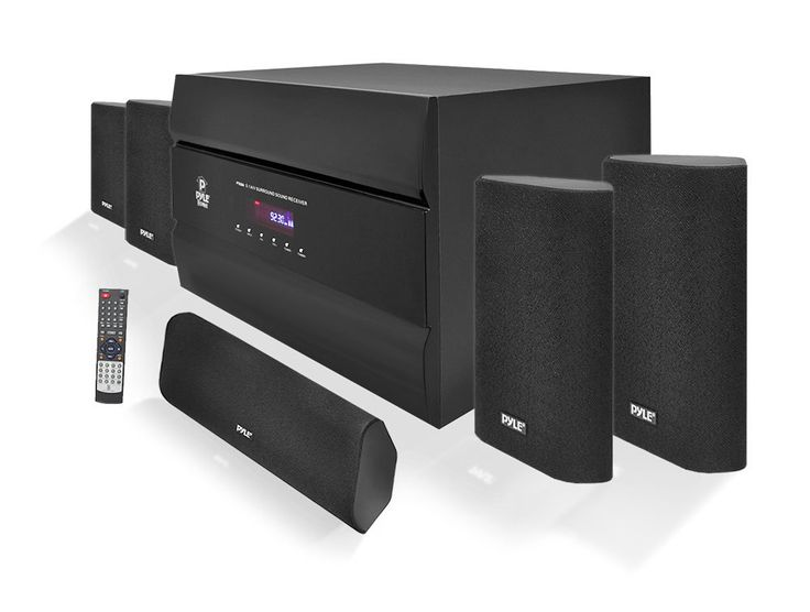 400-Watt 5.1 Channel Home Theater System with AM/FM Tuner, CD, Multimedia Disc & MP3 Player Compatible (Certified Refurbished)