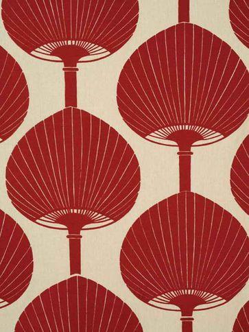 Kabuki from Florence Broadhurst via Signature Prints #fabric #cotton red
