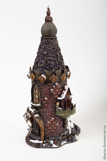 Кукольный дом ручной работы. Ярмарка Мастеров - ручная работа Шкатулка Замок - футляр для бутылки. Handmade.