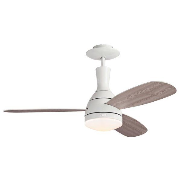 Cumulus combines contemporary style with exceptional circulation. It offers a white finish, three reversible white/white washed pine blades, and a remote control. This ceiling fan features a 153-millimeter by 15-millimeter cold-rolled steel motor with a triple capacitor for powerful, quiet performance. Three fan speeds (high/medium/low) and a reversible switch help keep you cool in the summer and warm in the winter. The fan's extra-long down rod makes it ideal for rooms wit...