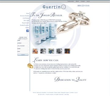 Guertin Brothers. Hand-coded HTML PHP request forms, search engine optimization, and search engine submission.