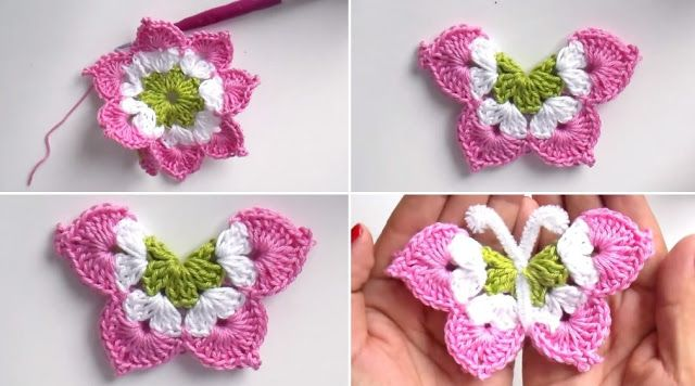 How to make crocheted  Butterfly with Pattern free-step by step  Crochet  butterfly are widely used...