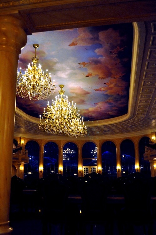 Be Our Guest Restaurant...eating there at night you actually feel like you have been telaported into the movie...it's that realistic. UNREAL and fabulous!...can't wait to go!