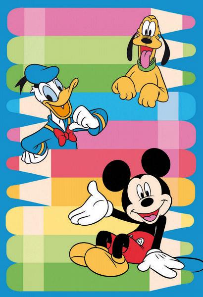 BADROOM - centri camerette specializzati in camere e camerette per ragazzi - Tappeto Disney Pippo Pluto e Paperino